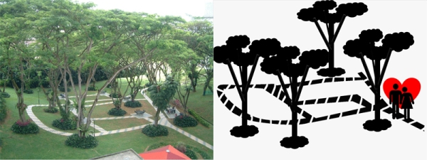 Original Picture of NUS Lover's Park   &   Abstraction 1