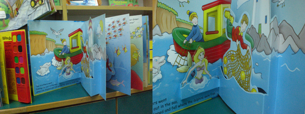Storybooks with pop-ups
