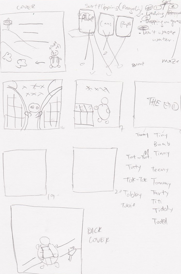 Sketches of storyboard2